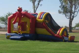 Elmo 3n1- Jumping Castle and Wet or Dry slide