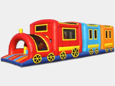 Brightly colored Train Obstacle