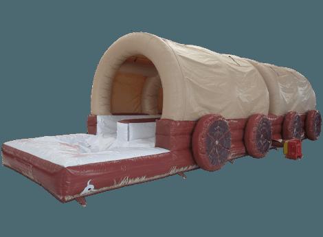 40 Foot Covered Wagon Dual Lane Slip N Slide